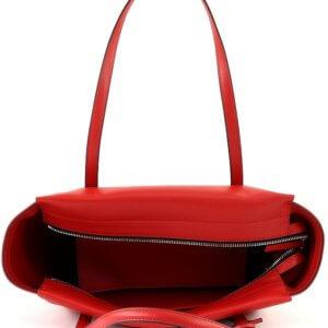 Calvin Klein kabelka Frame Large Shopper červená detail