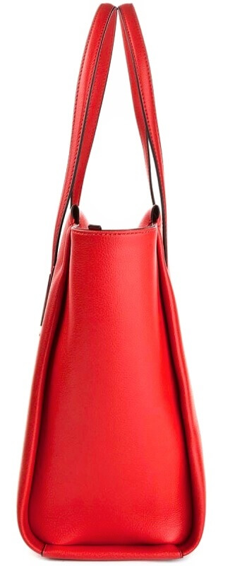 Kabelka Calvin Klein Frame Large Shopper červená detail