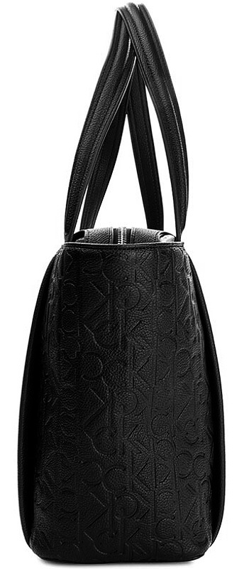 Dámska kabelka Calvin Klein Mish4 Medium Tote čierna detail