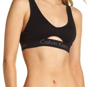 Calvin Klein podprsenka Bralette Cut Out Unlined čierna