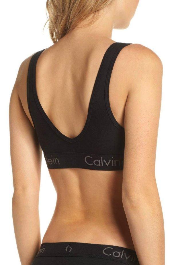 Calvin Klein podprsenka Bralette CO Unlined čierna