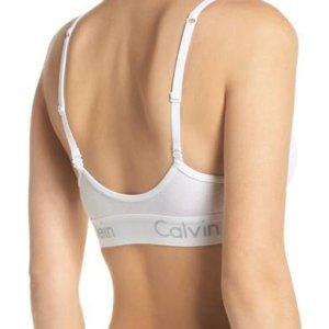 Calvin Klein podprsenka Bralette Unlined biela.2