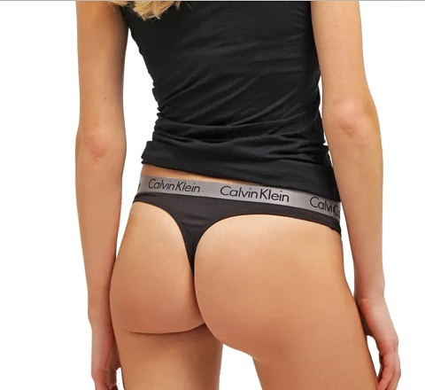 Calvin Klein tanga Radiant Cotton Thong 001