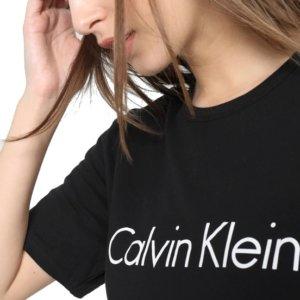 Calvin Klein dámske tričko SS Crew Neck čierne 001