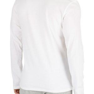 Calvin Klein pánske tričko CC L/S Crew Neck biele