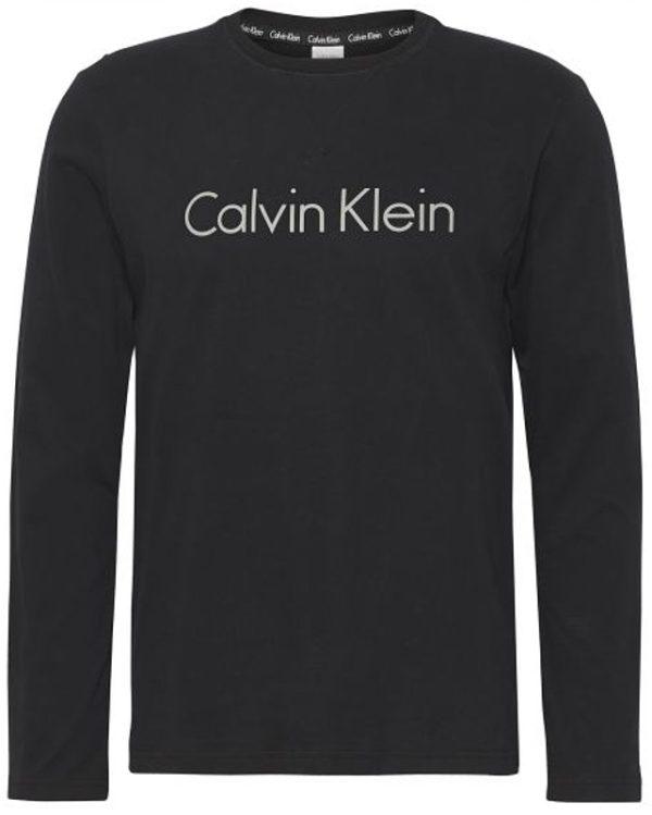 Calvin Klein pánske tričko CC L/S Crew Neck čierne