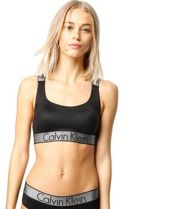 Calvin Klein podprsenka Bralette Unlined čierna
