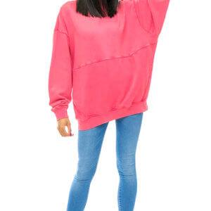 b83c97743 Tommy Hilfiger Jeans dámska mikina Oversize ružová ...