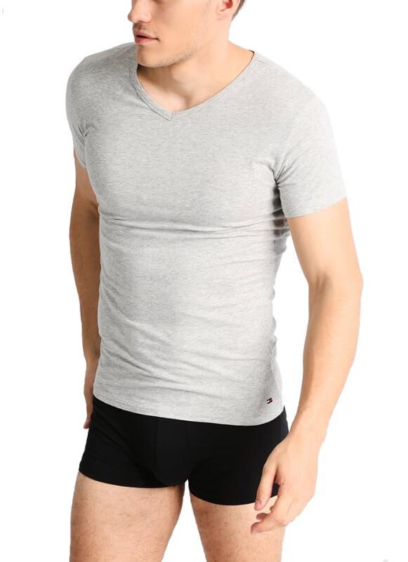 Tričko Tommy Hilfiger šedé 3 pack Premium Ess Tee