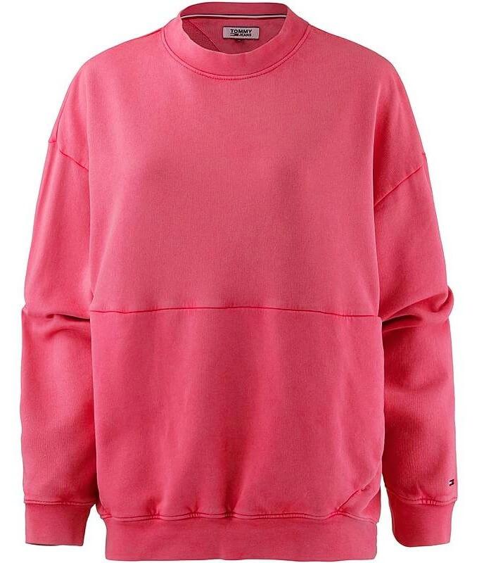 Tommy Hilfiger Jeans dámska mikina Oversize ružová  2e7156492c5