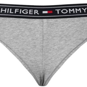 Tommy Hilfiger nohavičky brazilky Authentic Cotton Brazilian 004 šedé