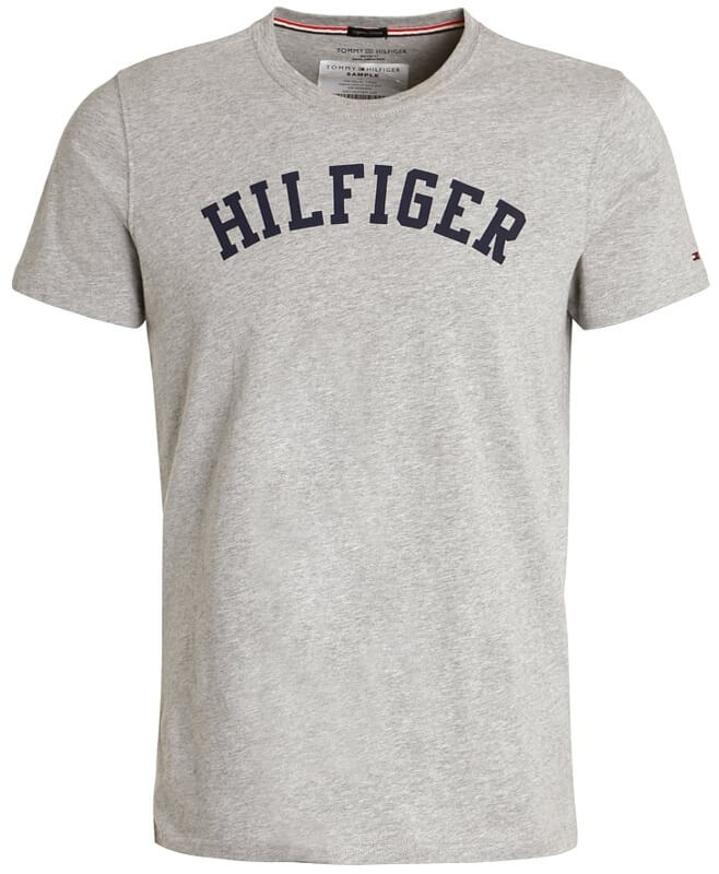 Pánske tričko Tommy Hilfiger Icon SS Tee Logo šedé 004