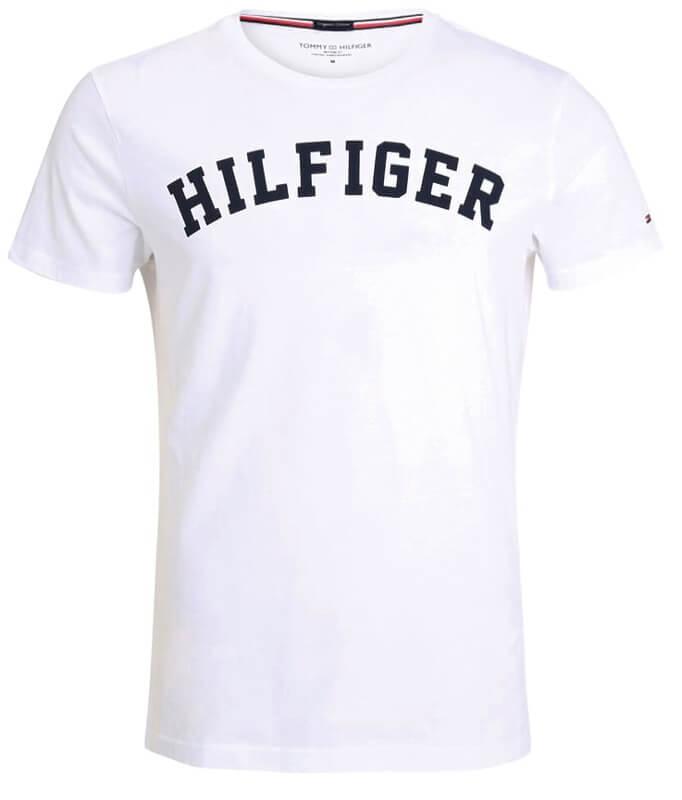 Tommy Hilfiger tričko pánske Icon SS Tee Logo 100 biele