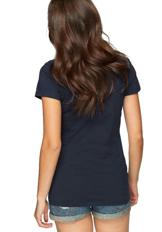 Tommy Hilfiger tričko SS Tee Print Logo modré  aaa94f02216
