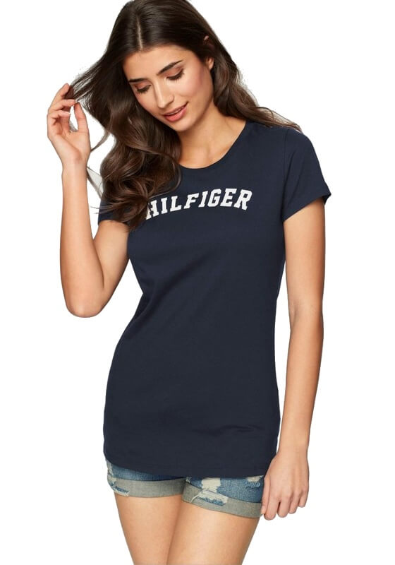 Tommy Hilfiger tričko SS Tee Print Logo modré
