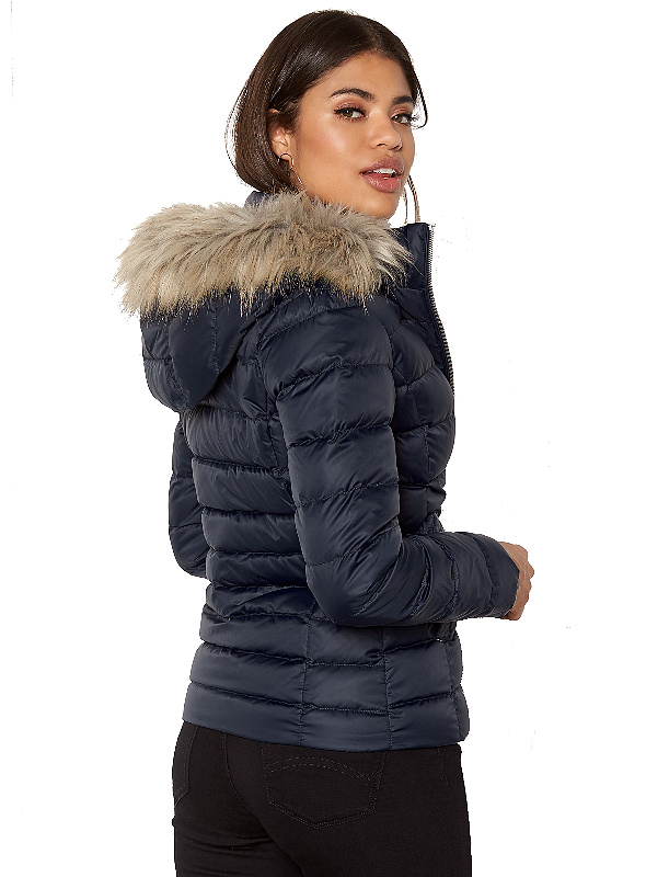 34f441cd65 Tommy Hilfiger dámska bunda Basic Down Jacket modrá