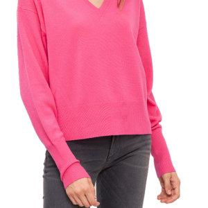 Tommy Hilfiger Gwynie V-Neck pulóver ružový