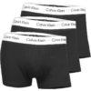 Calvin Klein boxerky 3pack U2664G 001 čierne/biely pás