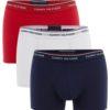 Tommy Hilfiger boxerky 3pack Premium Essentials Trunk modré/červené/biele