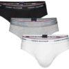 Tommy Hilfiger 3Pack Brief Premium Essentials slipy čierne/šedé/biele