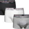 Tommy Hilfiger boxerky 3pack Low Rise Trunk Premium Ess. čierne/šedé/biele