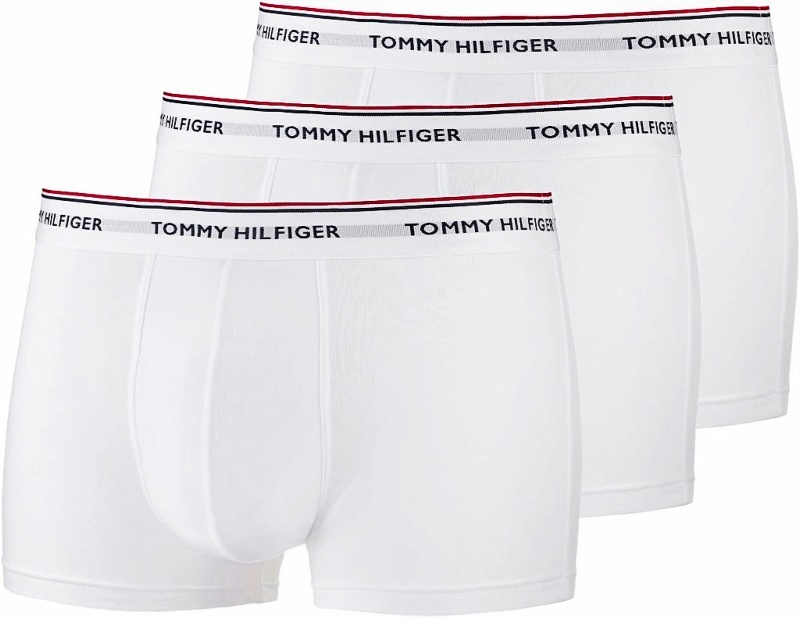 Tommy Hilfiger boxerky 3pack Low Rise Trunk Premium Ess. biele
