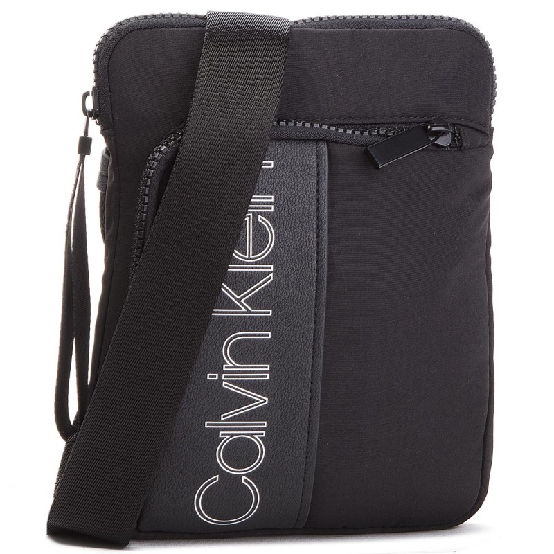 Calvin Klein pánsky organizér Double Logo Flat Crossover