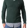 Gant pánsky pulóver Extra Fine Lambswool V-Neck Forest Green Mel