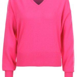 Tommy Hilfiger Gwynie V-Neck Sweater dámsky pulóver ružový