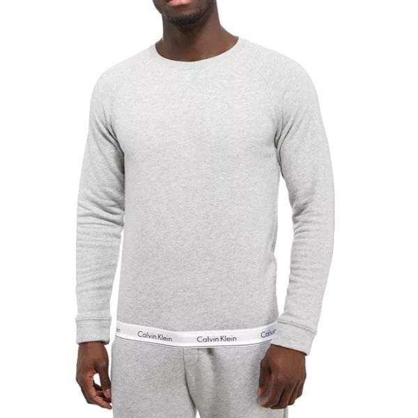 Mikina pánska Calvin Klein Modern Cotton Sweatshirt seda