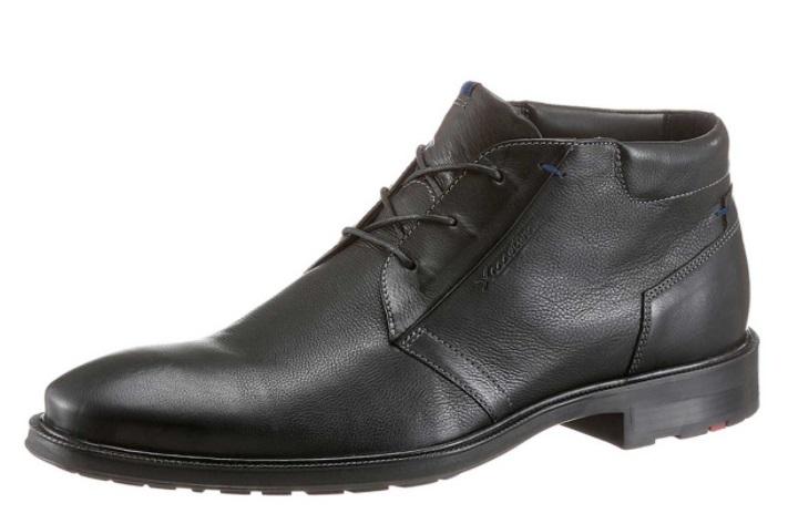 LLOYD pánske šnurovacie topánky čierna