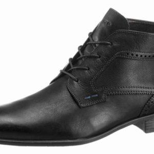 LLOYD pánske kožené šnurovacie topánky čierna 8595