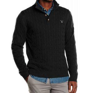 GANT pánsky pletený sveter charcoal)