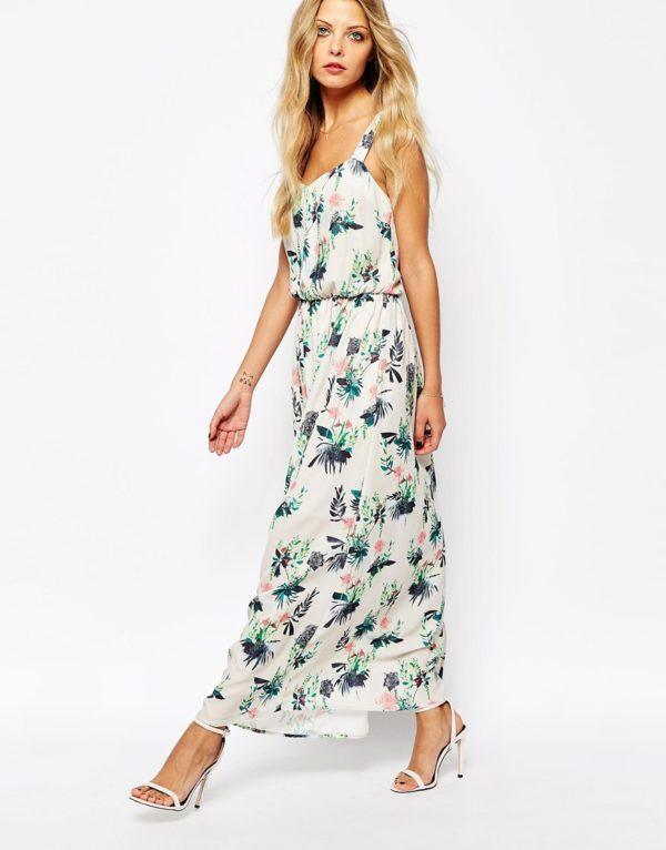 Y.A.S dámske šaty Maxi Dress Botanic Print