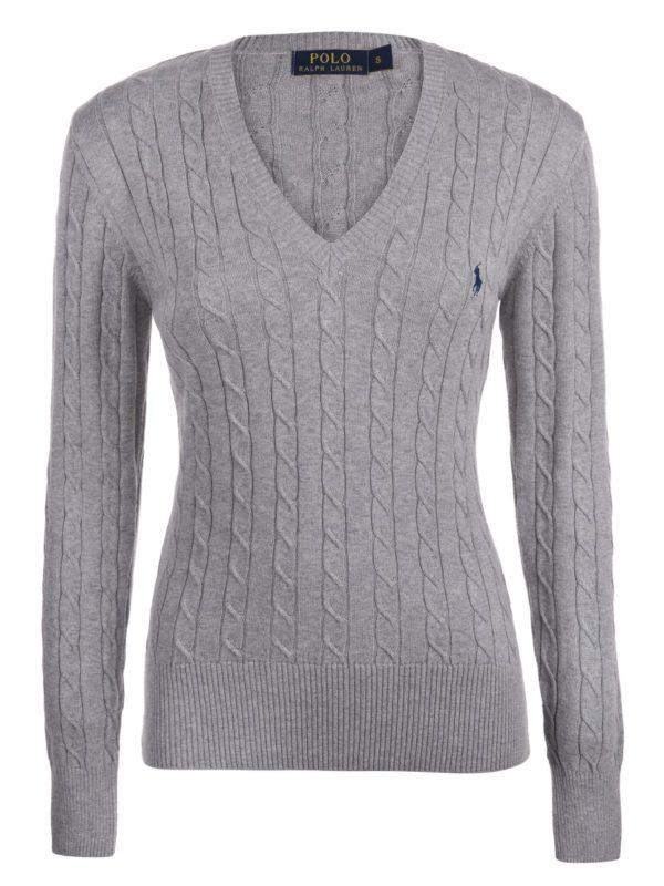 RALPH LAUREN PAIGE LS SWT pulover grey melange