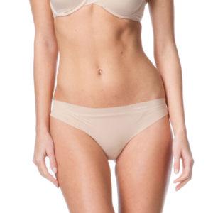 Calvin Klein nohavičky tanga Invisible Thong caramel