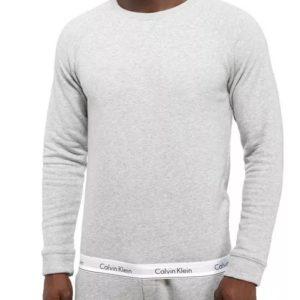 Calvin Klein mikina Modern Cotton Sweatshirt šedá