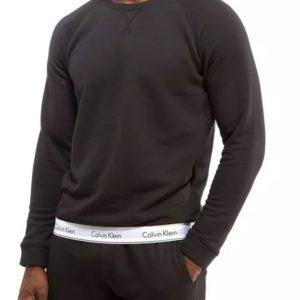 Calvin Klein mikina Modern Cotton Sweatshirt čierna