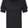 Calvin Klein pánske tričko ID 2pack S/S V-neck 2x čierne