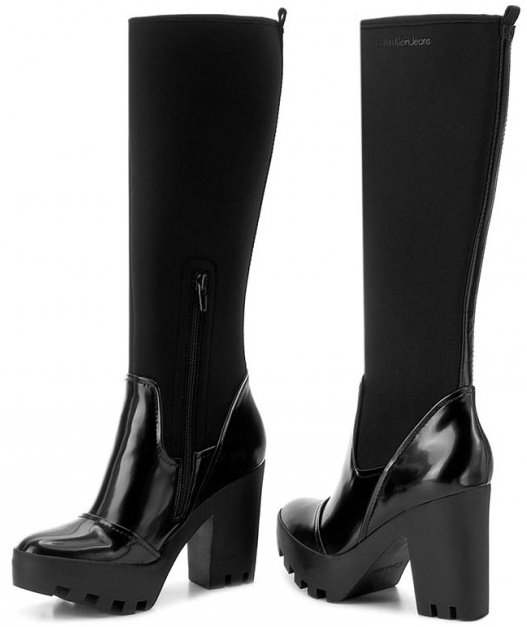 Calvin Klein Jeans dámske čižmy Sintra black