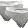 Calvin Klein 2pack nohavičky CK One Cotton Bikini šedé