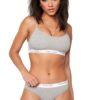 Calvin Klein podprsenka Bralette CK One Cotton šedá