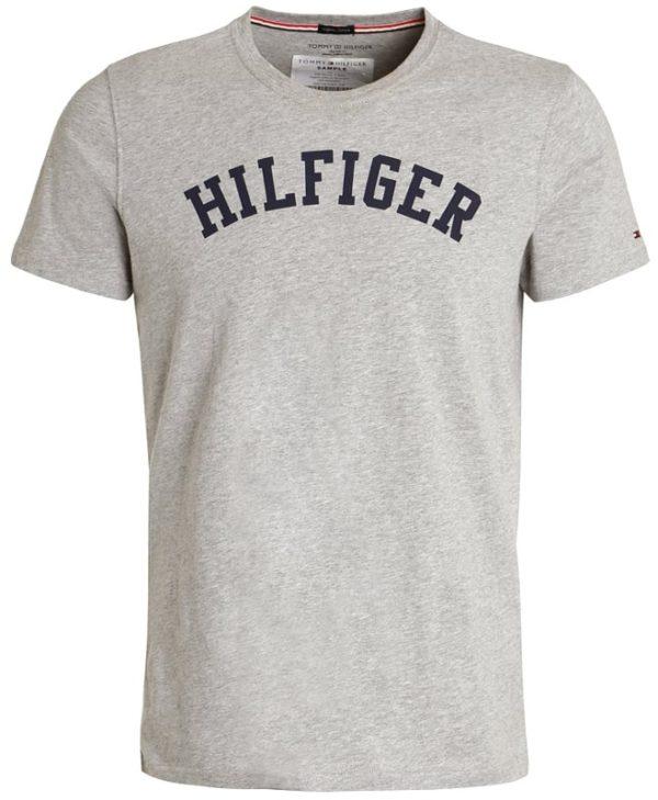 Tommy Hilfiger pánske tričko Cotton Icon SS Tee Logo šedé