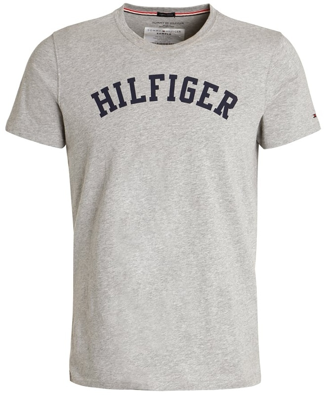 3b167db939 Tommy Hilfiger pánske tričko Cotton Icon SS Tee Logo šedé
