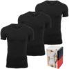 Tričká Tommy Hilfiger 3P Premium Ess. V-Neck čierne