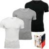 Tommy Hilfiger 3 Pack pánske tričko Premium Essentials V-neck tricolor