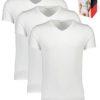 Tričká Tommy Hilfiger 3P Premium Ess. V-Neck biele