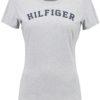 Tommy Hilfiger dámske tričko Cotton Icon SS Tee Print Logo šedé
