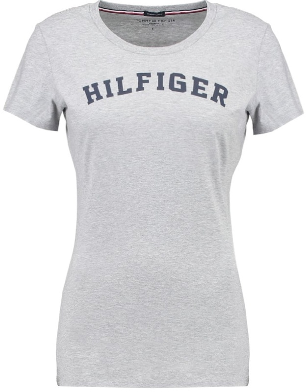 513d159b40 Tommy Hilfiger dámske tričko Cotton Icon SS Tee Print Logo šedé