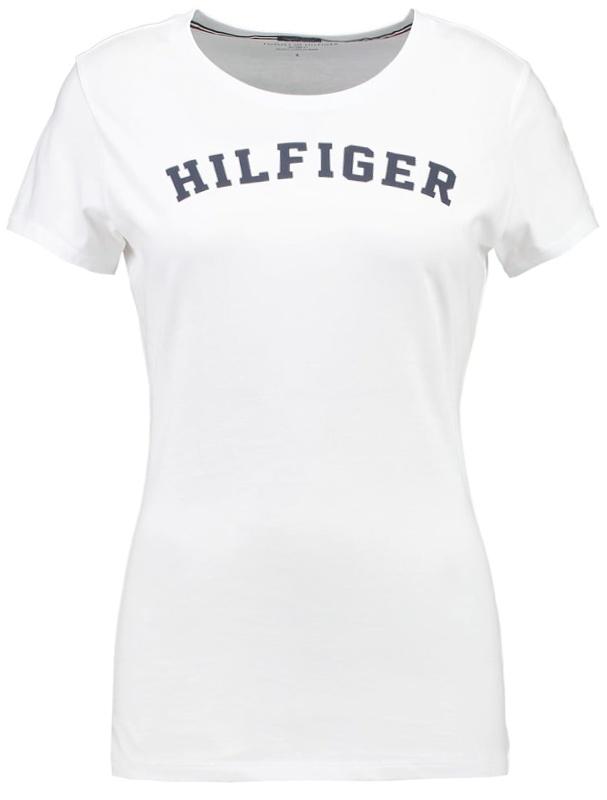 c44025ae3f2d Tommy Hilfiger dámske tričko Cotton Icon SS Tee Print Logo biele